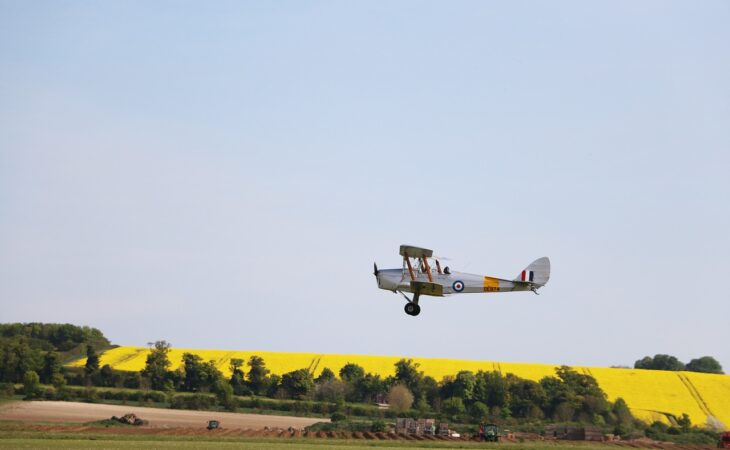 Biplane on the wing